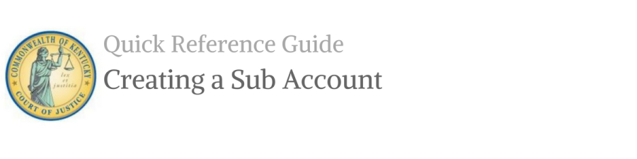 Create a Subaccount