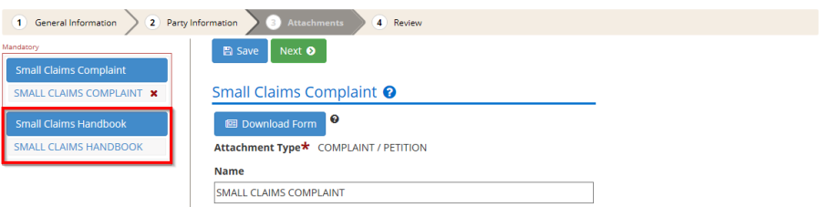 Small Claims Complaint